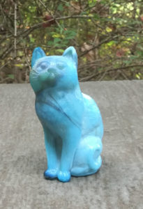 Mosser Sitting Cat - Smoke N Blue